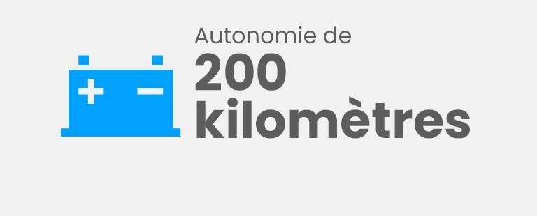Autonomie de 200 kilomètres