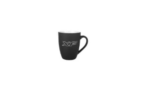 Mug édition spéciale 2020 en céramique noir et blanc, logo XF argenté.