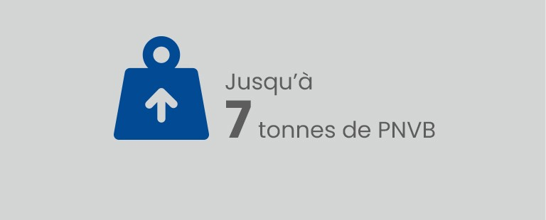 Jusqu'à 7,0 tonnes de PNBV